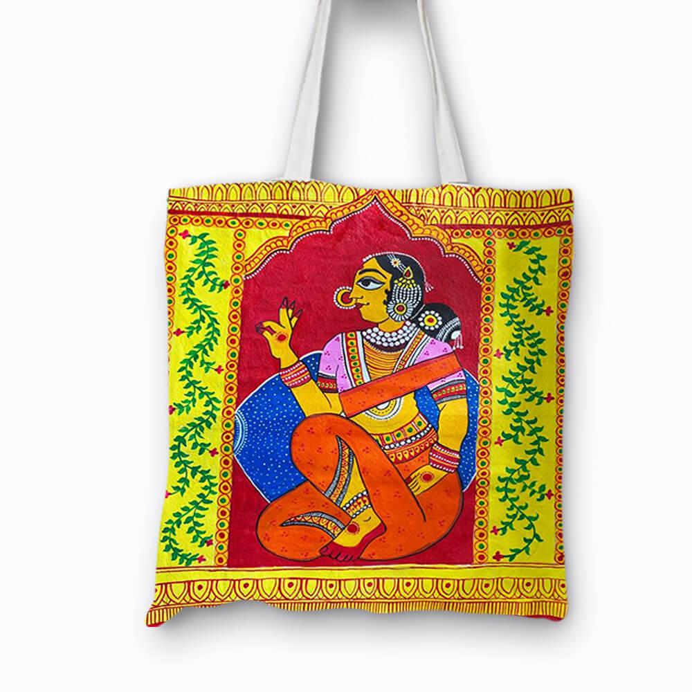 Cheriyal Painting on Cloth Bag DIY kit