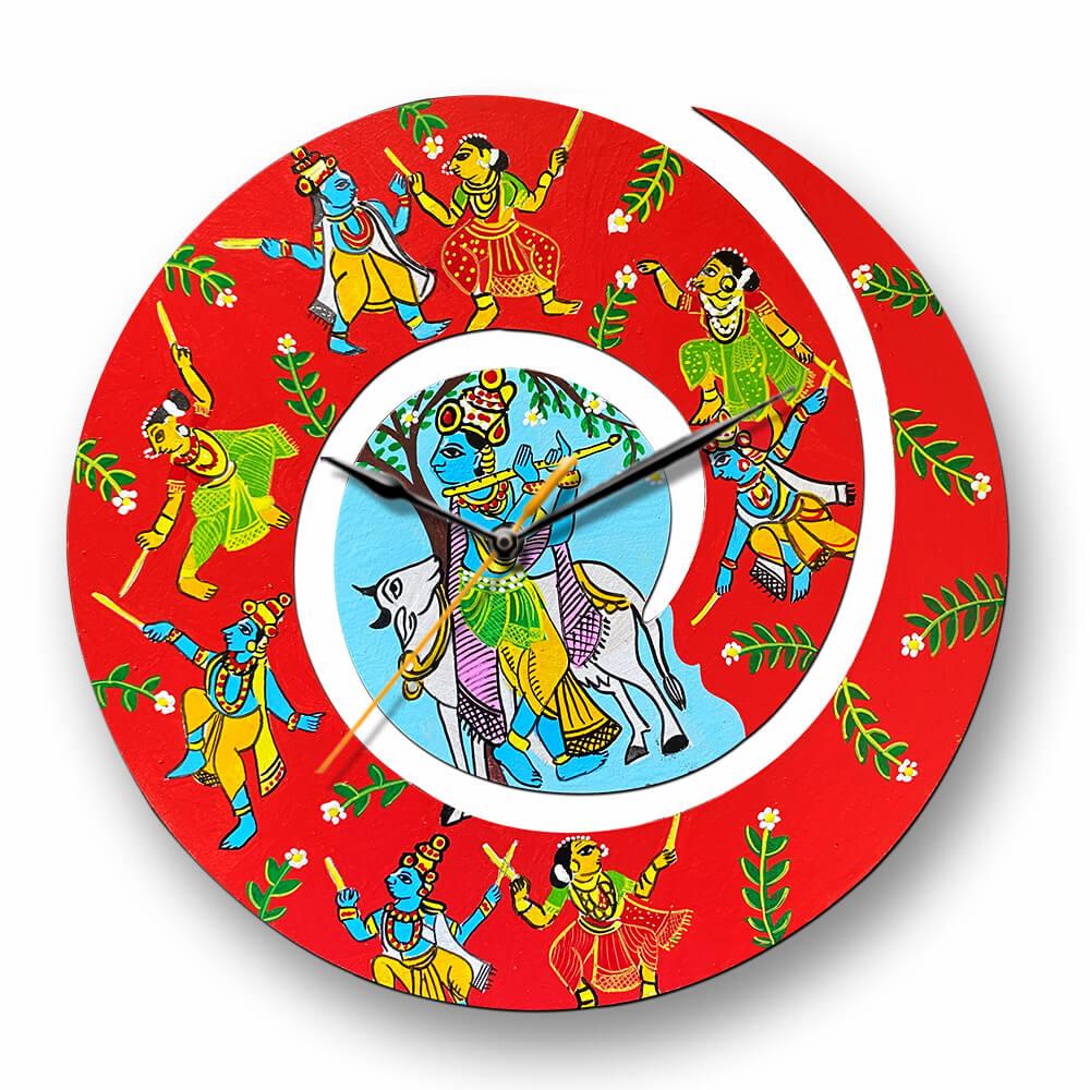 Cheriyal Painting on Spiral Clock DIY kit