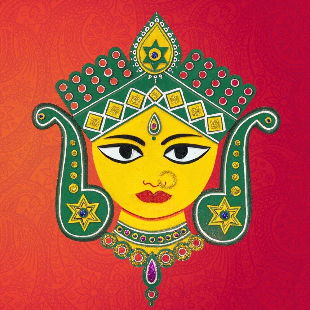 Devi Mahalaxmi Face for Navaratri Pooja Decoration