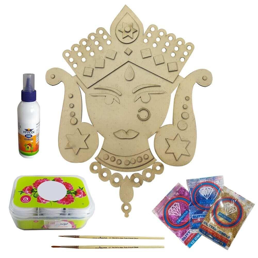 Devi Mahalaxmi Face for Navaratri Pooja Decoration DIY Kit